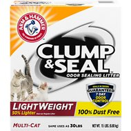 Arm & Hammer Litter Clump & Seal LightWeight Multi-Cat Litter, 15-lb box