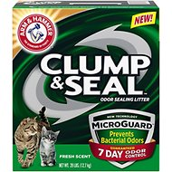 Arm & Hammer Litter Clump & Seal MicroGuard Fresh Scent Cat Litter, 28-lb box