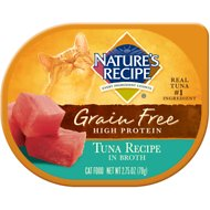 Nature's Recipe Grain-Free Tuna Recipe in Broth Wet Cat Food, 2.75-oz, case of 24