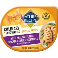 Nature's Recipe Culinary Favorites Grilled Recipe with Real White Meat Chicken & Garden Vegetables in Savory Sauce Wet Cat Food, 2.75-oz, case of 24