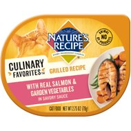 Nature's Recipe Culinary Favorites Grilled Recipe with Real Salmon & Garden Vegetables in Savory Sauce Wet Cat Food, 2.75-oz, case of 24