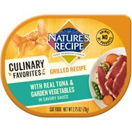 Nature's Recipe Culinary Favorites Grilled Recipe with Real Tuna & Garden Vegetables in Savory Sauce Wet Cat Food, 2.75-oz, case of 24