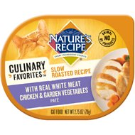 Nature's Recipe Culinary Favorites Slow Roasted Recipe with Real White Meat Chicken & Garden Vegetables Pate Wet Cat Food, 2.75-oz, case of 24