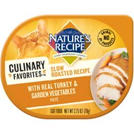 Nature's Recipe Culinary Favorites Slow Roasted Recipe with Real Turkey & Garden Vegetables Pate Wet Cat Food, 2.75-oz, case of 24