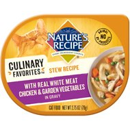 Nature's Recipe Culinary Favorites Stew Recipe with Real White Meat Chicken & Garden Vegetables in Gravy Wet Cat Food, 2.75-oz, case of 24
