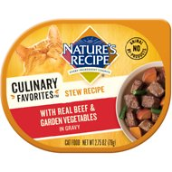 Nature's Recipe Culinary Favorites Stew Recipe with Real Beef & Garden Vegetables in Gravy Wet Cat Food, 2.75-oz, case of 24