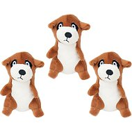 ZippyPaws Burrow Squeaky Hide and Seek Plush Dog Toy, Meerkat Den, Refills
