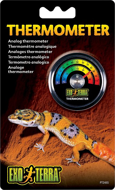 exo terra analog thermometer instructions