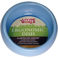 Living World Blue Ergonomic  Small Pet Dish, Small
