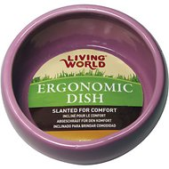 Living World Pink Ergonomic Small Pet Dish, Small