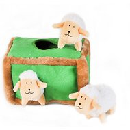 ZippyPaws Burrow Squeaky Hide and Seek Plush Dog Toy, Sheep Pen, Puzzle Set