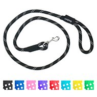 ZippyPaws Climbers Mountain Original Climbing Rope Dog Leash, Black, 6-ft