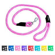 ZippyPaws Climbers Mountain Original Climbing Rope Dog Leash, Pink, 6-ft