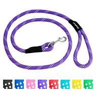 ZippyPaws Climbers Mountain Original Climbing Rope Dog Leash, Purple, 6-ft
