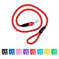 ZippyPaws Climbers Mountain Original Climbing Rope Dog Leash, Red, 6-ft