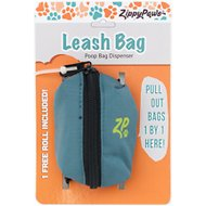 ZippyPaws Leash Attachment Poop Bag Dispenser, Forest Green
