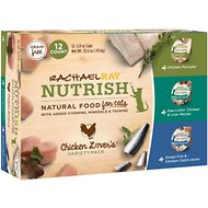Rachael Ray Nutrish Chicken Lovers Variety Pack Natural Grain-Free Wet Cat Food, 2.8-oz, case of 12