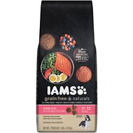 Iams Grain-Free Naturals Salmon & Red Lentil Recipe Adult Dry Dog Food, 4-lb bag