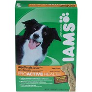 Iams ProActive Health Adult Large Biscuits Dog Treats, 2.6-lb box