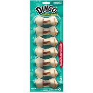 Dingo Mini Dental Bone Chicken Flavored Dog Rawhide Treats, 7 count