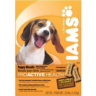 Iams ProActive Health Puppy Biscuits Dog Treats, 2.6-lb box
