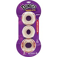 Dingo Ringo Rawhide & Meat Chew Dog Treats, 3 count