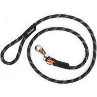 ZippyPaws Climbers Mountain Original Climbing Rope Bull Snap Dog Leash, Black, 6-ft
