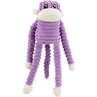 ZippyPaws Spencer the Crinkle Monkey Squeaky Plush Dog Toy, Purple