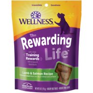 Wellness WellBites Grain-Free Lamb & Salmon Recipe Soft & Chewy Dog Treats, 6-oz bag