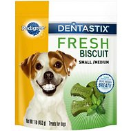 Pedigree Dentastix Small/Medium Fresh Biscuit Dog Treats, 1-lb bag