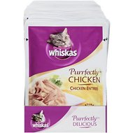 Whiskas Purrfectly Chicken Entree Cat Food Pouches, 3-oz, case of 24