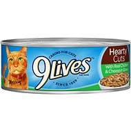 9 Lives Hearty Cuts with Real Chicken & Cheese in Gravy Canned Cat Food, 5.5-oz, case of 24