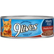 9 Lives Meaty Pate Poultry Supper Canned Cat Food, 5.5-oz, case of 24