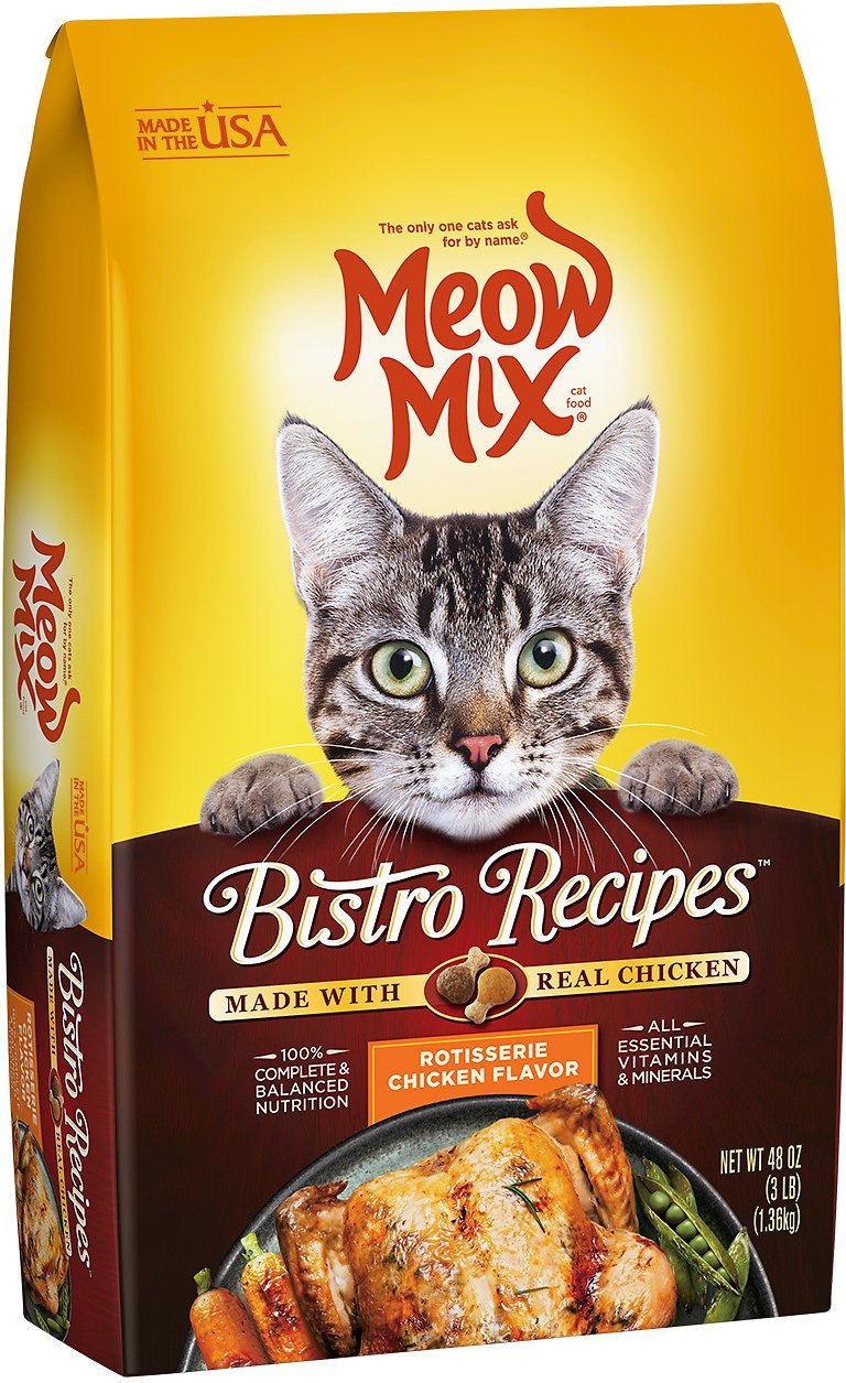 Meow mix bistro recipes rotisserie chicken flavor dry cat food 3 lb roll over image to zoom in forumfinder Gallery