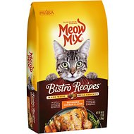 Meow Mix Bistro Recipes Rotisserie Chicken Flavor Dry Cat Food, 3-lb bag