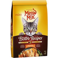 Meow Mix Bistro Recipes Rotisserie Chicken Flavor Dry Cat Food, 12-lb bag