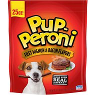 Pup-Peroni Filet Mignon & Bacon Flavors Dog Treats, 25-oz bag