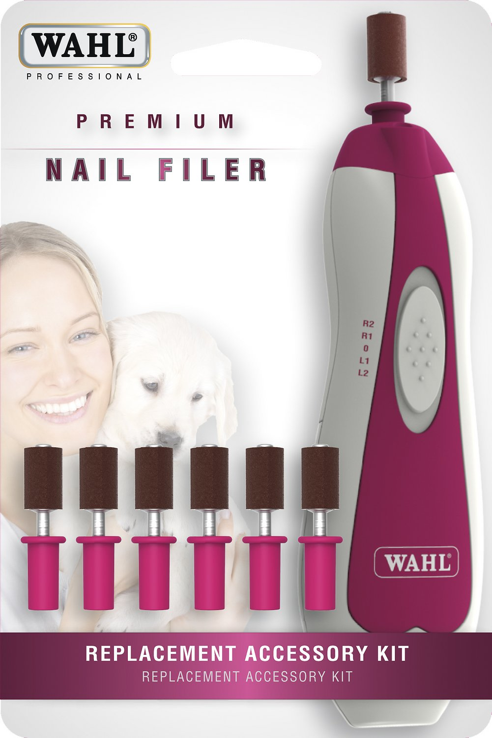 Wahl Premium Pet Nail Filer Replacement Kit, Red - Chewy.com