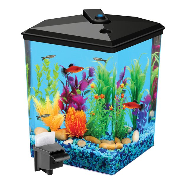 api aquariums tropical aquaview corner aquarium starter kit 2 5 gallon. Black Bedroom Furniture Sets. Home Design Ideas