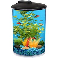 Koller Products Tropical 360 View Aquarium Starter Kit, 3-gal