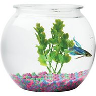 Aqua Accents Sphere Plastic Fish Bowl, 1.5-gal