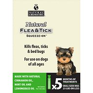 Natural Chemistry Natural Flea & Tick Squeeze-On for Dogs, Small