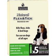 Natural Chemistry Natural Flea & Tick Squeeze-On for Dogs, Medium
