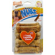 Nylabone Edibles Natural Nubz Chicken Flavor Dog Chew Toy, 8 count