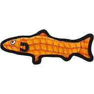 Tuffy's Ocean Creatures Trout Dog Toy, Orange
