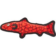 Tuffy's Ocean Creatures Trout Dog Toy, Red