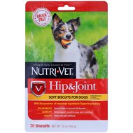 Nutri-Vet Grain Free Hip & Joint Soft Biscuit Dog Treats, 30 count