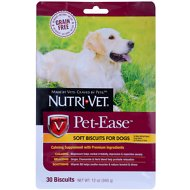 Nutri-Vet Grain Free Pet-Ease Soft Biscuit Dog Treats, 30 count