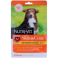 Nutri-Vet Grain Free Skin & Coat Soft Biscuit Dog Treats, 30 count