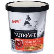 Nutri-Vet Skin & Coat with Vitamins & Omega 3 Fatty Acids Dog Soft Chews, 60 count
